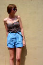 Black-silence-noise-top-black-gap-belt-blue-thrifted-shorts-black-old-nav
