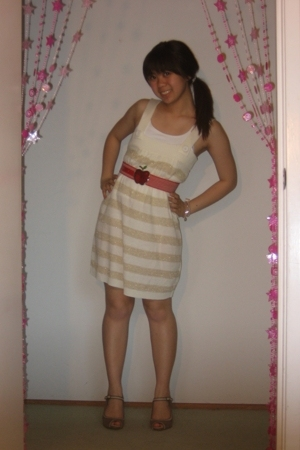 forever 21 belt - Macys dress - Target shoes - Aeropostale bracelet