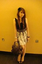 Forever21 accessories - Forever21 belt - ribbon dress - Zara shoes