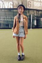 Dr marts shoes - vintage jacket - Topshop top