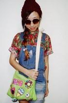 DIY bag - OVERSEAS jumper - Grammah top - H&M accessories