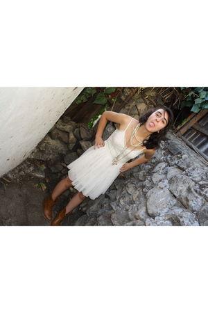 white dress - silver