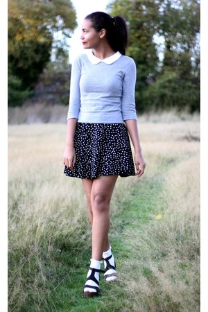 Topshop shoes - Topshop sweater - River Island socks - Topshop skirt