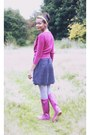 Oasis-accessories-joules-boots-navy-polka-dot-next-dress