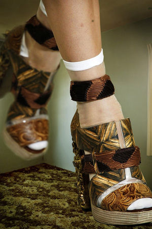 brown NICHOLAS KIRKWOOD FOR RODARTE SPRING 2011 shoes