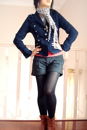 China jacket - Valleygirl shirt - cotton on shorts - markets necklace - forgot a