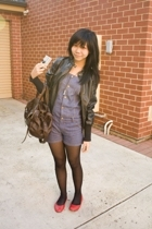 jacket - Forever New accessories - tights - Steve Madden shoes