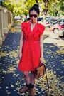 Thrifted-shoes-polka-dot-dangerfield-dress-satchel-nine-west-bag