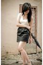 Black-rubi-shoes-black-unknown-brand-skirt-beige-nichii-top-blue-cotton-on