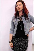 thrifted jacket - ricochet skirt - ricochet top
