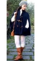 Zara cape - Zara Kids boots - pull&bear sweater - brandy&melville bag