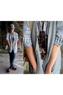 H-m-jeans-zara-boots-h-m-hat-h-m-shirt-gina-tricot-vest