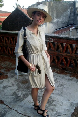 H&M hat - H&M dress - Zara bag - Persol sunglasses - H&M sandals