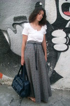 H&M skirt - Zara bag - Zara sandals - H&M top - H&M belt
