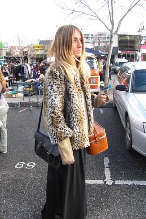 beige leopard fur wilsons leather jacket