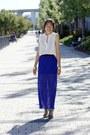 Ivory-tissue-ruffle-covington-blouse-blue-forever-21-skirt