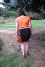 Orange-shirt-black-skirt-burp-dragon-fly-brown-terranova-purse-blue-sc