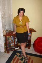shoes - belt - blue Scarpasa shoes - brown meli melo belt - blue Terranova -