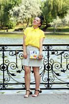 yellow VESSOS shirt - black sandals