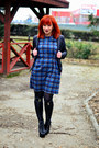 Black-jeffrey-campbell-boots-blue-front-row-shop-dress-charcoal-gray-tights