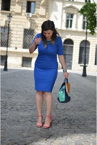 blue Atmosphere dress - pink SheLikes sandals - aquamarine meli melo necklace