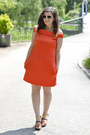 Carrot-orange-asos-dress-yeswalker-sandals