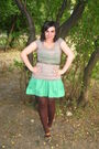 T-shirt-terranova-brown-tights-