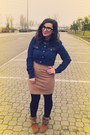 Light-brown-yesstyle-boots-navy-romwe-shirt-cream-second-hand-store-skirt