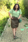 Lime-green-sheinsider-shirt-turquoise-blue-oasap-bag-olive-green-skirt