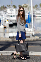 black Vince Camuto sandals - grey Marshalls sweater