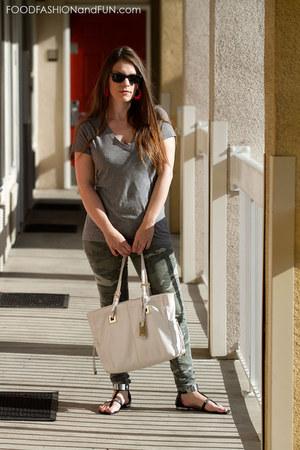metal Target sandals - white leather calvin klein purse