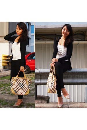 tote bag Burberry bag - black jeggings asos pants
