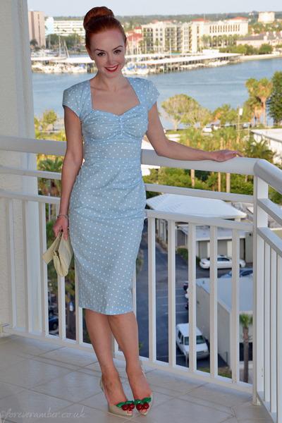 blue Stop Staring dress - vivienne westwood heels