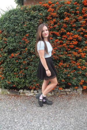 Topshop t-shirt - River Island shoes - new look jacket - Topshop skirt