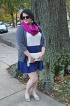 Target scarf - kohls blazer - Charming Charlie bag - Old Navy skirt - Macys top