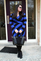 black Target boots - navy Old Navy dress - black H&M bag