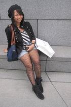 SM jacket - H&M shorts - Minnetonka boots - H&M shirt - random brand from Bloomi