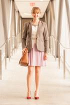 modcloth skirt - H&M blazer - coach bag - Old Navy cardigan - Aldo heels
