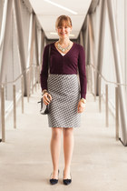 Jacob skirt - Jacob sweater - Fossil bag - Loren Hope bracelet