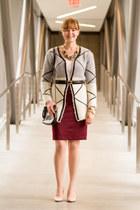 Sheinside sweater - Fossil bag - Jacob skirt - Jacob belt - modcloth necklace