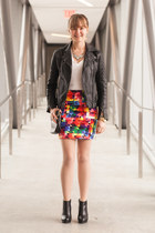 Loren Hope bracelet - Aldo boots - Barneys jacket - Fossil bag - modcloth skirt