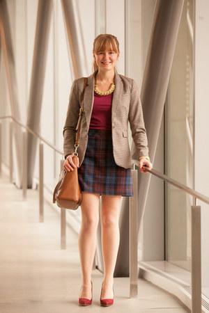 Loren Hope bracelet - H&M blazer - coach bag - Jacob skirt - Moddlinc necklace
