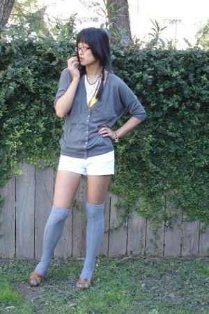 Walmart sweater - Walmart top - f21 shorts - Target socks - Ross shoes - Chloe a