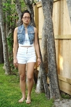 jordache vest - Hanes top - f21 shorts - Target shoes - Marc Jacobs accessories