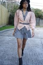 vintage sweater - H&M dress - Salvation Army belt - payless boots