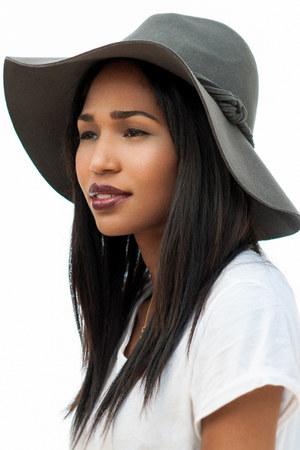 silver felt hat