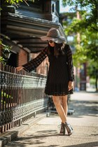 black cotton free people dress - black leather Urban Outfitters shoes