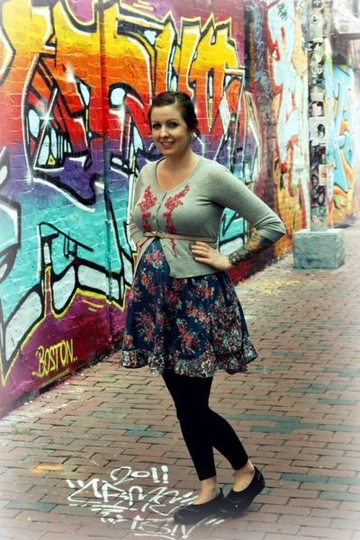 Clarks shoes - Marshalls dress - Target leggings - Zara belt