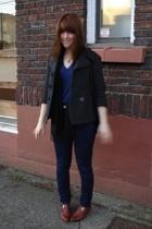 vintage shoes - UO jeans - vintage coat - aa t-shirt
