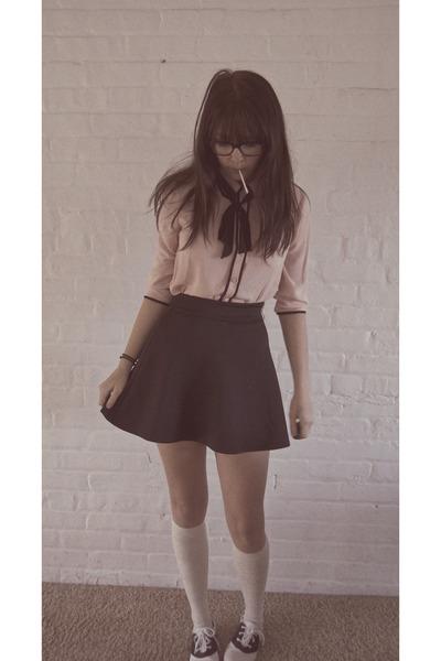 Black Mini Charlotte Russe Skirts Saddle Shoes Payless